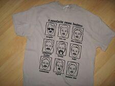 Moustache Mustache Tee - Facial Hair Upper Lip Means Business T Shirt Medium
