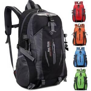 40L Mens Classic Plain Backpack Large Rucksack Work Travel Hiking Camping Bag 🔥
