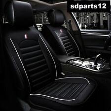 Per Nissan VW Audi Coprisedili Nero Bordo Bianco Ecopelle di Qualità 1+1 2 Posti