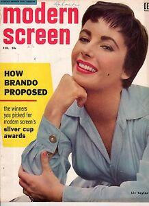 1955 Modern Screen February - Marilyn Monroe; Richard Widmark; Judy Garland;
