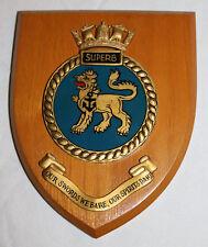 WALL PLAQUE H.M.S. SUPERB HMS GIEVES BRITISH NAVY LONDON UNITED KINGDON