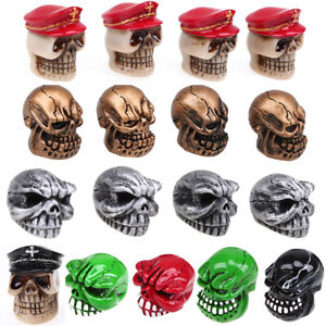 4pcs Car Valve Stems Caps Cover Dust Head Skull Skeleton Bone Decor Tire Wheel