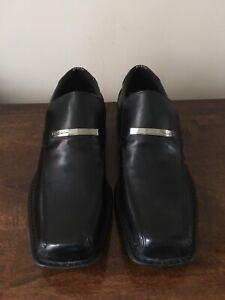 Ben Sherman black slip on SHOES UK MENS Size 9 #BackToSchool RRP £55