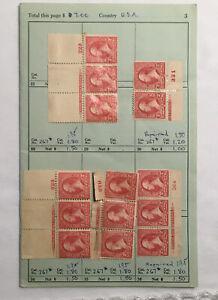 American Stamps Scott 267, 645, 655, 680 & 682