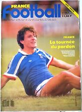 France Football du 26/01/1988; Luis Fernandez/ Sastre/ Sidi Kaba/ Hugo Sanchez