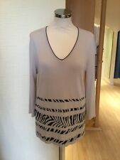 Faber Jumper Size 10 BNWT Beige Black RRP £112 Now £33