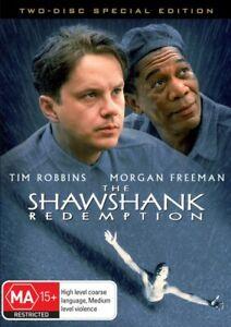 THE SHAWSHANK REDEMPTION New 2 Dvd TIM ROBBINS MORGAN FREEMAN ***