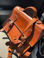 STUNNING Handmade Natural Belting Leather Briefcase Business Mens Portfolio