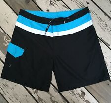 f5e1def847 MAUI & SONS Surf Hawaii Men's Blue/White/Black Surfing Board Shorts ...