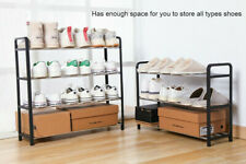 3 4 5 Tiers Shoe Rack Storage Organizer Tower Wooden Shelf Stand Shelves