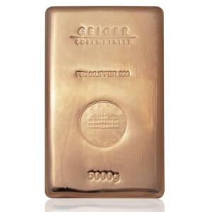 5kg Copper Bullion Bar .9999