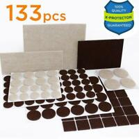 Premium Wood Floor Protector Pack Furniture Mover Pads 133 piece! Felt Feet