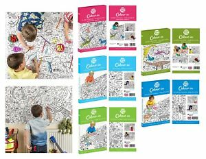 EggNogg Colour In Giant Poster / Tablecloth ~ Childrens Party Unicorns Dinosaurs