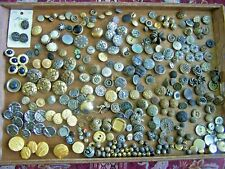 1+ LBS OF MOSTLY METAL BUTTONS-VICTORIAN TO CONTEMPORARY.