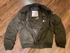 NWT ABERCROMBIE & FITCH LAKE HARRIS Sherpa Collar BOMBER JACKET Coat in Olive  L