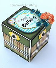 Handmade Green Explosion Gift Box for Love Birthday Anniversary him/her