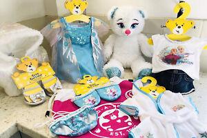 Build A Bear Clothes Bundle - Elsa Frozen Bear and Accessories