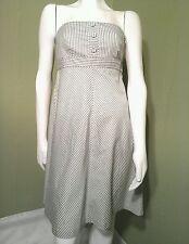 GAP Gray & White Striped Cotton Flare A-Line Dress~ Size 04