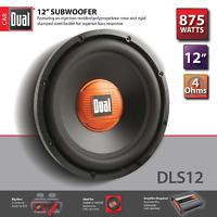 "Dual DLS12 RB 875 Watts 12"" 4 Ohm Single Voice Coil SVC Subwoofer"