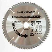 TCT Circular saw Blade 160mm 36 Teeth SHARK BLADES