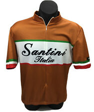 Vintage Santini Italia Cyclist Cycling Made in Italy