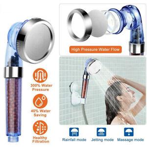 Duschkopf-Badezimmer Hoch Turbo Druck Kraftvoll Wassersparend Filter Duschbrause