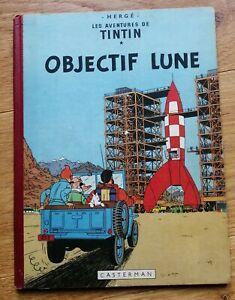 TINTIN OBJECTIF LUNE EO BD 1953 B8 Hergé