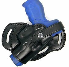 Premium Black Leather 3-slot SMALL OF BACK (SOB) Holster for S&W SIGMA 40E 40VE