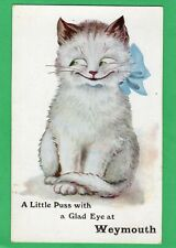 A Little Puss Cat with Glad Eye Weymouth Comic pc unused Wildt & Kray  AB854