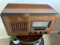 Antique Westinghouse WR-186 Wood Radio, Beautiful, Working, Upgraded Capacitors