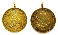 Medaglia Devozionale San Francesco D'Assisi Congresso Francescano Novara 1894