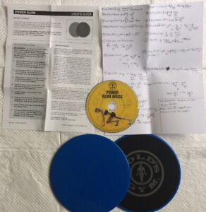 Power Glide Discs, Golds Gym With DVD, Guide & Written Exercise Manual.