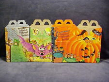 1993 MC DONALDS HALLOWEEN MC NUGGET 2 HAPPY MEAL BOXES NEVER USED HTF