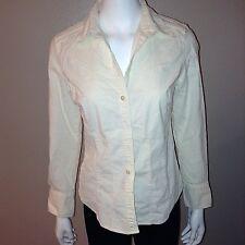 Eddie Bauer Shirt Size M Medium Womens Corduroy Button Down Top Long Sleeve