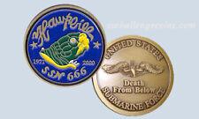 USS Hawkbill SSN 666 Submarine Challenge Coin USN Navy