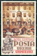 Bolzano Vipiteno Hotel Centrale Posta Vecchia Lenhart cartolina RT1866