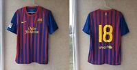 Barcelona Home football shirt 2011/2012 Jersey Size L Nike Soccer Spain Camiseta