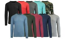 Men's Long Sleeve Waffle Thermal Shirt Tee -Crew Neck Layering Color & Size NEW