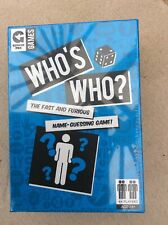 WHO'S WHO ? THE FAST AND FURIOUS NAME GUESSING GAME BY GINGER FOX BRAND NEW