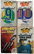 Star Trek Libros Lot of 4 original james blish 1970s Corgi 9 10 12 Spock MUST