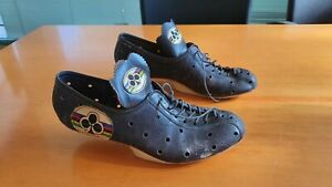 rare COLNAGO SHOES vintage italian road bike size 42 leather 100% authentic