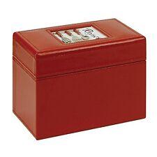 CR Gibson Recipe File Box, A La Carte Design, 4 x 6-Inch Recipe Cards, New, Free