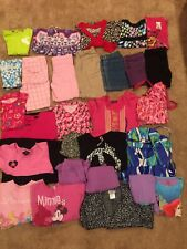 Huge Lot of Girls Clothes Shorts , tops, Pjs Size 7-8/ Medium preowned 28 items