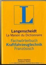 Fachwörterbuch Kraftfahrzeugtechnik Französisch 9783861173175