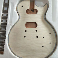 High-grade Unfinished 1 set electric guitar body and  neck for LP style