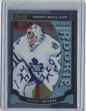 2015-16 GARRET SPARKS O-PEE-CHEE PLATINUM MARQUEE ROOKIE CARD #M-7 ~ MAPLE LEAFS