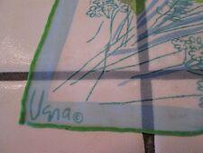 Vintage VERA Blue & Green Floral Hand Rolled  Scarf