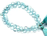 Super Rare Natural Gem Top Quality Moss Aquamarine Faceted Pear Shape Briolette Beads 9 Full Strand 6x4 to 9x6MM Size Beads Natural Beryl