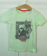 SCOTCH R'BELLE T-Shirt Print Printshirt Grün Ethno Hippie Rock Gr. 10 140 (GE70)