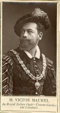 Paris, Théâtre. M. Victor Maurel du Royal Italien Opéra Covent Garden (de Londre